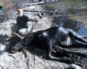 Successful Bull Moose Hunt at Timber Point Camp in Ontario Canada