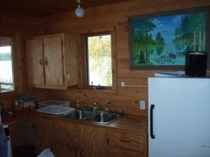 Bull Moose Cabin Kitchen at Timber Point Camp