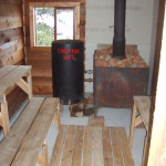 Wood Fired Sauna Sauna at Timber Point Camp in Ontario Canada